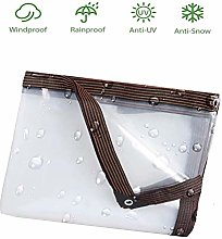 0.12Mm Clear Tarp Waterproof with Eyelets, PVC