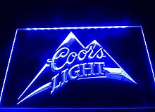 004-b Coors Light Beer Bar Pub Logo Neon Light Sign