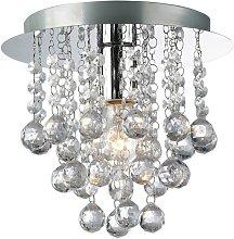 09-097 Palazzo 1 Light Round Acrylic Flush Ceiling