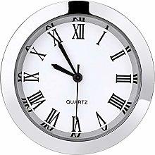 1-1/2 Inch (37 mm) Round Quartz Clock Insert with
