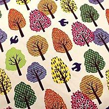 1/2 Metre - Multicoloured Trees   100% Egyptian