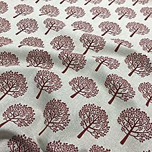 1/2 Metre Red Mulberry Tree Dove Panama Weave