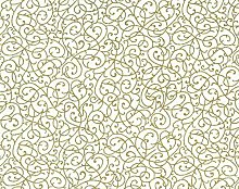 1/2 Metre | White and Gold 100% Cotton Fabric Gold