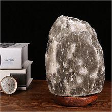 1-2Kg Natural Gray Salt Lamp,Hand Carved Salt Lamp