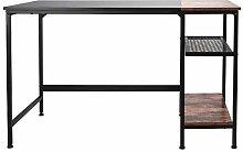 1.2M Black Oak Computer Desk with 2‑Layer Grid