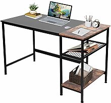 1.2M Computer Desk with 2-layer Grid Rack Computer