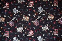 1/2m | Luxurious Heavyweight Black Tapestry Fabric