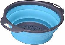 1/2Pcs Folding Drain Basket Kitchen Washing Basket
