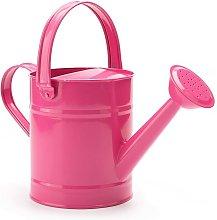 1.5L (or 51oz) Pink Metal Watering Can - Kids