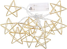 1.5m 10 lights wrought iron five-pointed star
