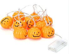 1.5m H-alloween 10 LEDs Pump-kin String Lights