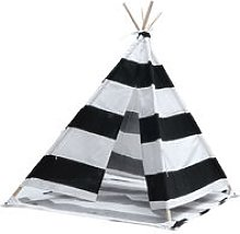 1.6M Large Kids Tent Teepee Wooden Playhouse White