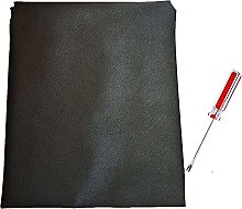 1.6m Width Black Upholstery Base Dust Cover Fabric