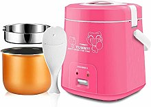 1.8L Mini Rice Cooker Steamer,Portable Food Heater