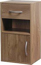 1 Door 1 Drawer Wooden Bedroom Bedside Cabinet
