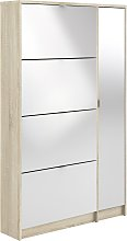 1 Door 4 Drawer Shoe Cabinet - Two Tone