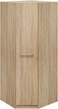 1 Door Oak Corner Wardrobe - Hamtpon