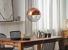 1-Light Globe Pendant Light Copper Lamp Framework