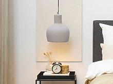 1-Light Pendant Ceiling Grey Concrete Bell Shade