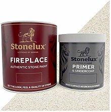 1 Litre Stonelux® Fireplace Stone Coating & 500ml