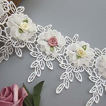 1 Meter 3D Chiffon Flower With Colored Buds Tassel