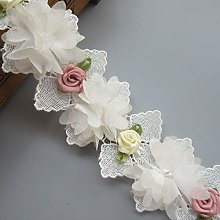 1 Meter Chiffon Flower with Colored Flower Buds