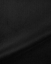 1 Metre | Black | Italian 100% Cotton 8 WALE Woven