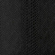 1 Metre Black - Snake Embossed Faux Leather/Vinyl