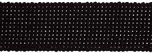 1 Metre Black - Strong Cotton Canvas Webbing 30mm