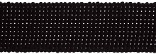 1 Metre Black - Strong Cotton Canvas Webbing 30mm