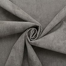 1 Metre | Dark Grey | Italian 100% Cotton 8 WALE