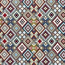1 metre - Designer Multicoloured Aztec Woven