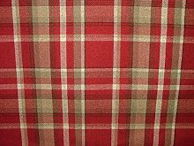 1 Metre Elgin Red Wool Effect Washable Thick