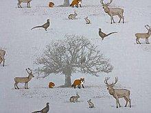 1 Metre Fryetts Tatton Woodland Deer Fox 100%