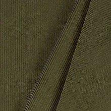 1 Metre | Khaki/Olive Green | Italian 100% Cotton