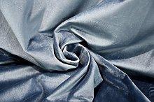 1 Metre | Mid Blue - Premium Cotton Velvet Fabric