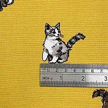 1 Metre | Mustard Yellow 100% Linen Fabric Shabby
