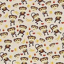 1 Metre | Natural Beige 100% Linen Fabric Half