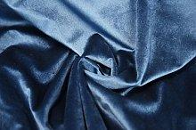 1 Metre | Navy Blue - Premium Cotton Velvet Fabric