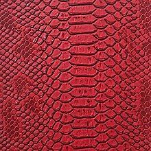 1 Metre Red - Lizard Embossed Faux Leather/Vinyl