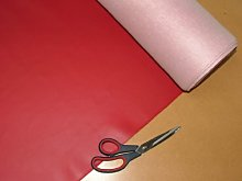 1 Metre Red Vinyl Leatherette Faux leather