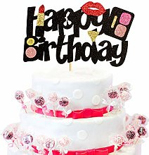 1 Pack Makeup Cake Topper Happy Birthday Cake
