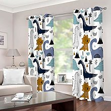 1 Pair Blackout Curtains Cartoon dinosaur Total