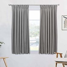 1 Pair Blackout Curtains Soft Solid Thermal
