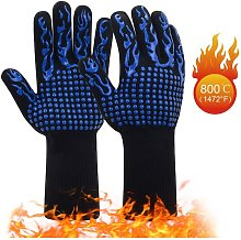 1 Pair Heat Resistant Barbecue Gloves   Non-slip