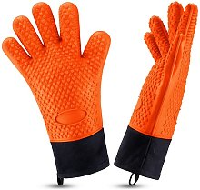 1 Pair Heat Resistant Oven Gloves Silicone Grill