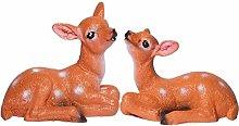 1 Pair Mini Sika Deer Figurine Resin Succulent