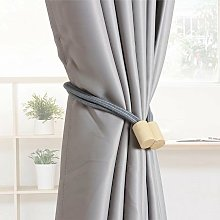 1 pair of curtain knitted rope curtain strap