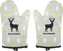 1 Pair Oven Gloves, Heat Resistant Oven Gloves,