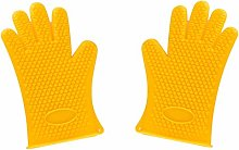 1 Pairs Heat Resistant Silicone Oven Glove Thick